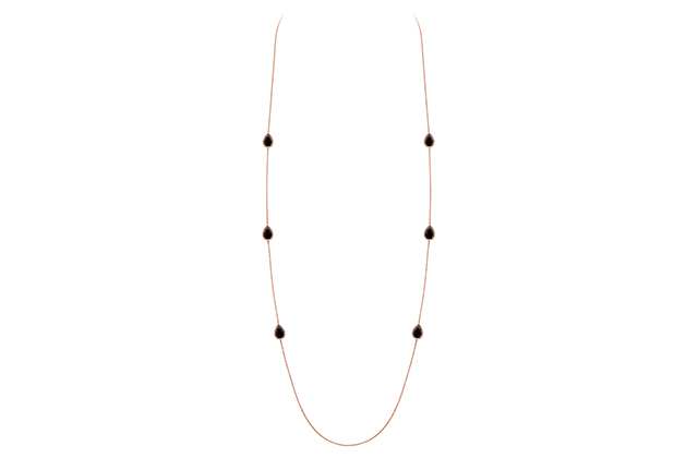 Boucheron Serpent Bohème long necklace with 6 onyx motifs, in pink gold