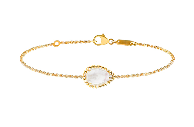 Boucheron Serpent Bohème bracelet with white mother-of-pearl, in yellow gold