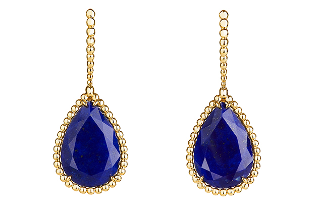 Boucheron Serpent Bohème sleepers set with lapis lazuli, in yellow gold