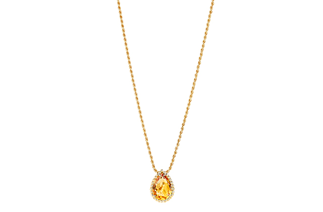 Boucheron Serpent Bohème pendant with citrin, in yellow gold