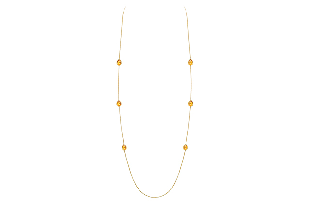 Boucheron Serpent Bohème long necklace with 6 citrin motifs, in yellow gold