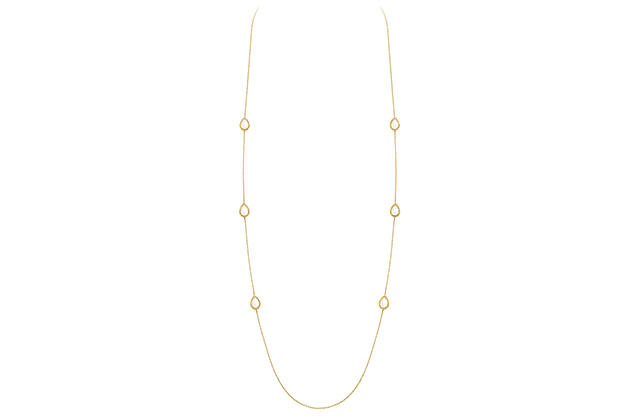 Boucheron Serpent Bohème long necklace with 6 white mother-of-pearl motifs, in yellow gold