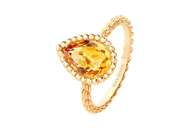 Boucheron Serpent Bohème ring set with citrin, in yellow gold