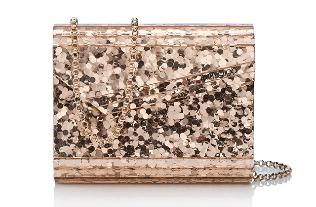 Jimmy Choo Candy Metallic Mini Paillette Acrylic Clutch, Dhs3,358
