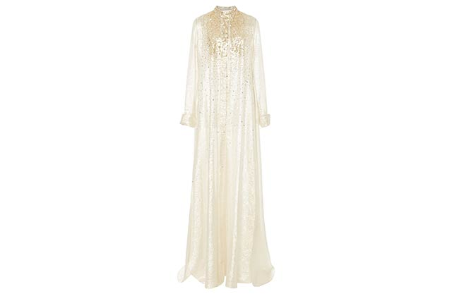 Carolina Herrera embellished kaftan available on Modaoperandi.com, Dhs14,655
