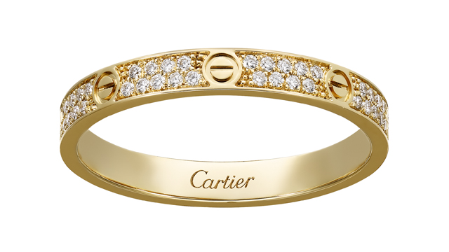 Love Ring in yellow gold with diamonds