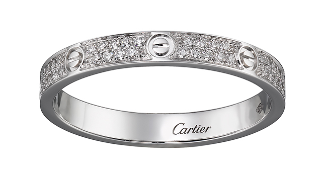 Love Ring in white gold with diamonds