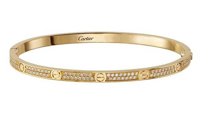 Love Bracelet in yellow gold with diamonds