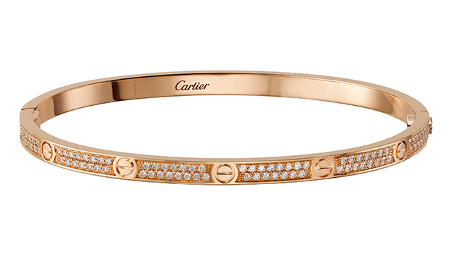 Love Bracelet in pink gold with diamonds