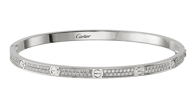 Love Bracelet in white gold with diamonds