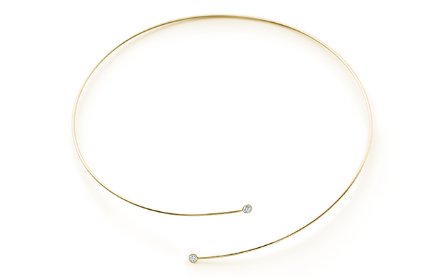 Elsa Peretti Diamond Hoop necklace, Dhs13,900
