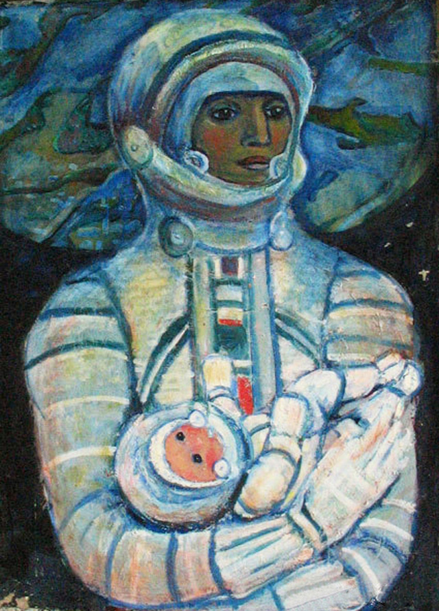 """Cosmic Mother"" Galina Konopatskaya.1970"