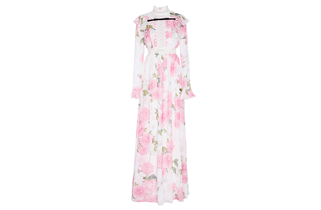 Giambattista Valli Georgette maxi dress available on Modaoperandi.com, Dhs12,270