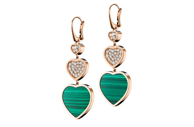 Happy Hearts gold earrings