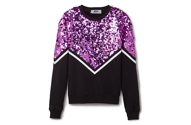 MSGM Sequin Chevron Sweatshirt available at Shopbop.com, Dhs2,166