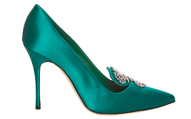 Manolo Blahnik embroidered heel, Dhs3,490