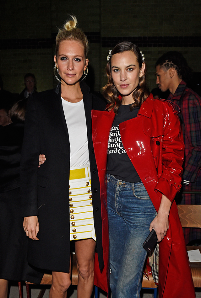 Poppy Delevingne and Alexa Chung