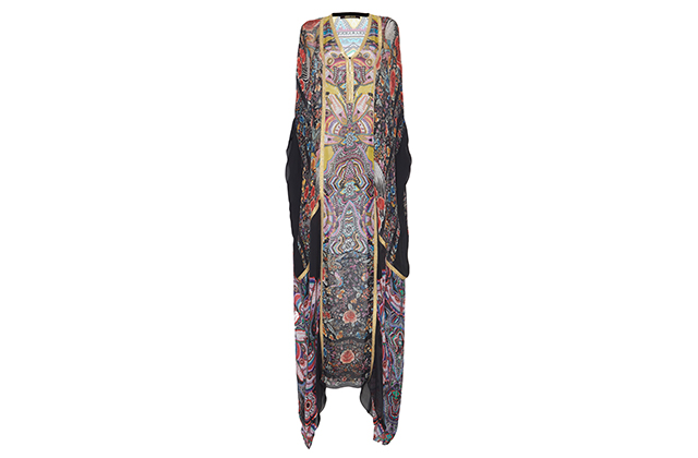 Roberto Cavalli chiffon caftan available on Modaoperandi.com, Dhs9,275
