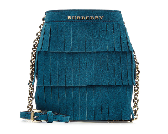 Burberry Fringed Suede Bucket Bag, Dhs2,537