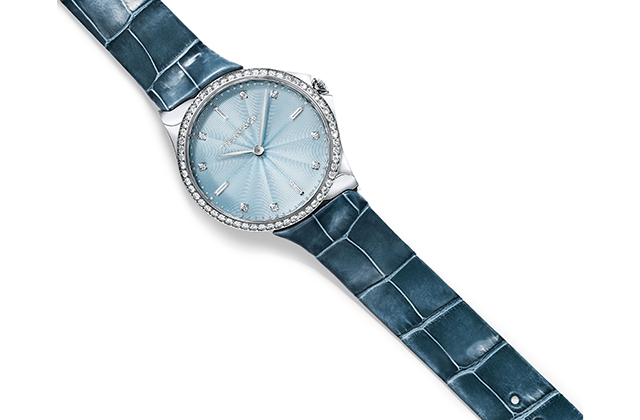 Tiffany & Co. Metro Stainless steel watch with alligator strap, Dhs28,100