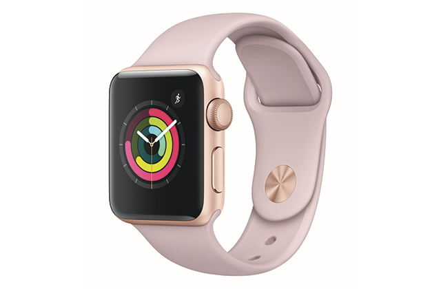 Apple Watch Gold Aluminum Case with Pink Sand Sport Band, starting from Dhs1,299
