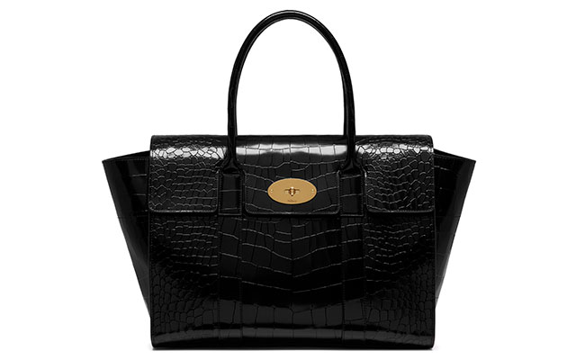 Bayswater polished croc in black, Dhs6,624