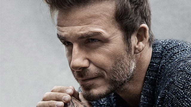 David Beckham gets up close and personal with Mr. Porter