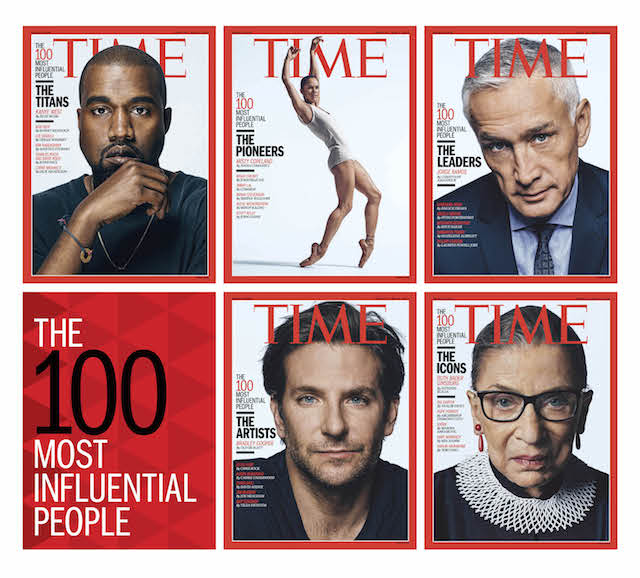 Time magazine reveals the most influential people of the year for its 'Time 100' issue
