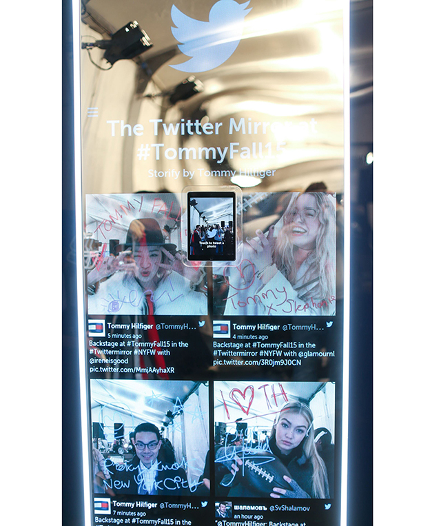 A closer look at Tommy Hilfiger's Twitter Mirror project