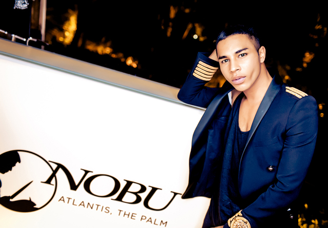 Olivier Rousteing celebrating New Year's Eve in Dubai