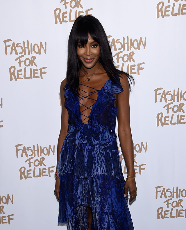 Naomi Campbell hosts 'Fashion for Relief' event at New York Fashion Week