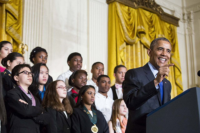 President Barack Obama Hosts White House Science Fair