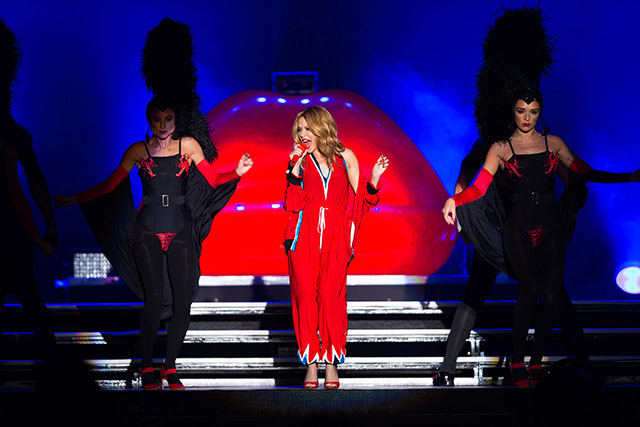 Kylie Minogue performs at the 2015 Dubai World Cup