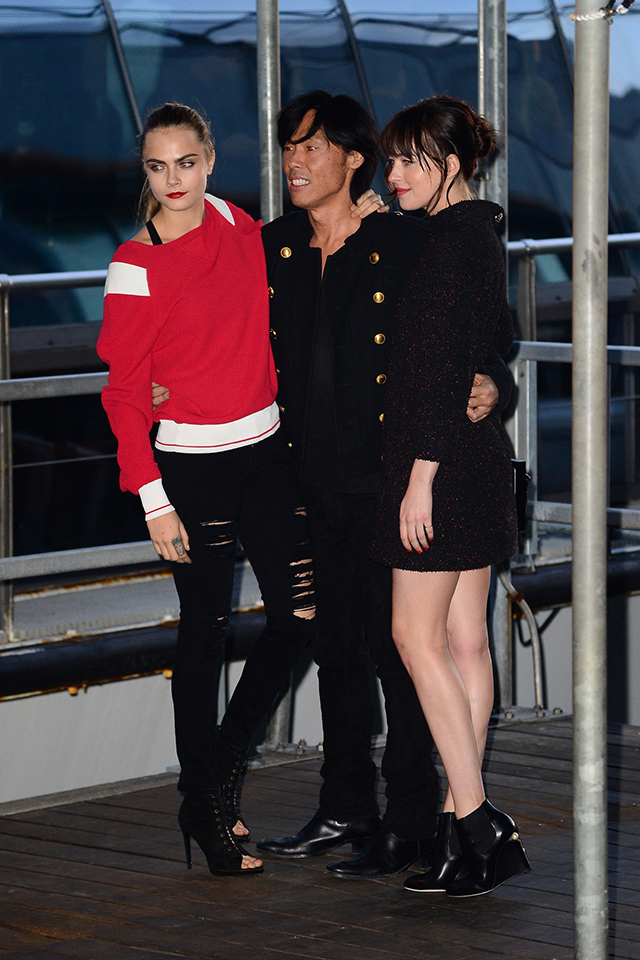 Karl Lagerfeld hosts Chanel yacht party on the Hudson River in NYC