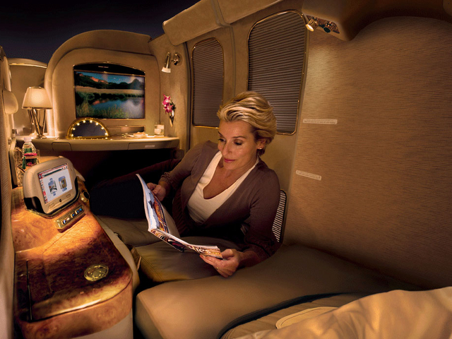 Emirates up the ante announcing a new 'railway style' first-class cabin