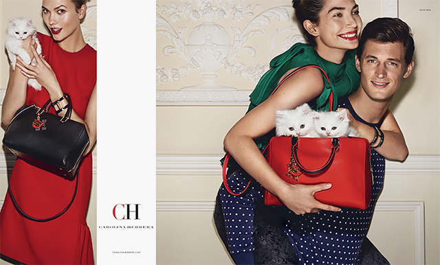 Karlie and Lily star in Carolina Herrera's new digital campaign