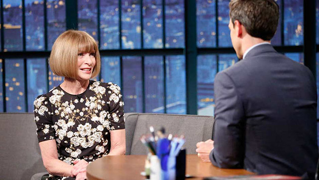 Watch now: Anna Wintour appears on Late Night with Seth Meyers