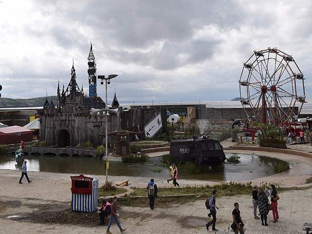 Watch now: Banksy releases the official Dismaland trailer