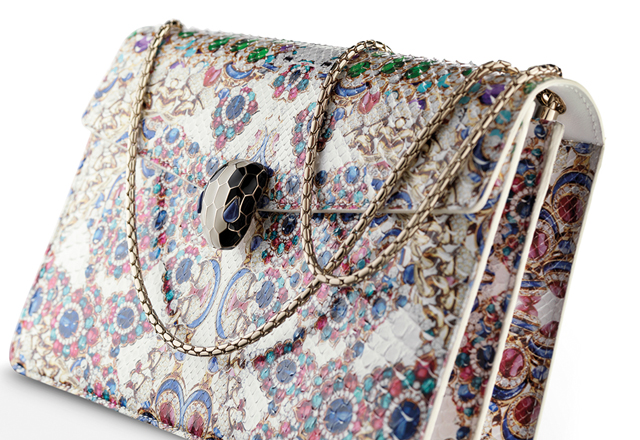 Bulgari's bejewelled SS16 Serpenti handbag