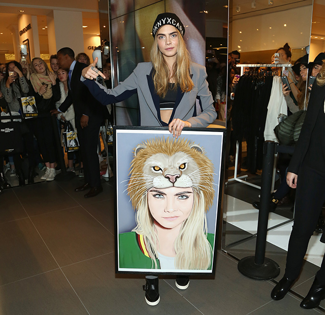 Cara Delevingne unveils her collection with DNKY in New York