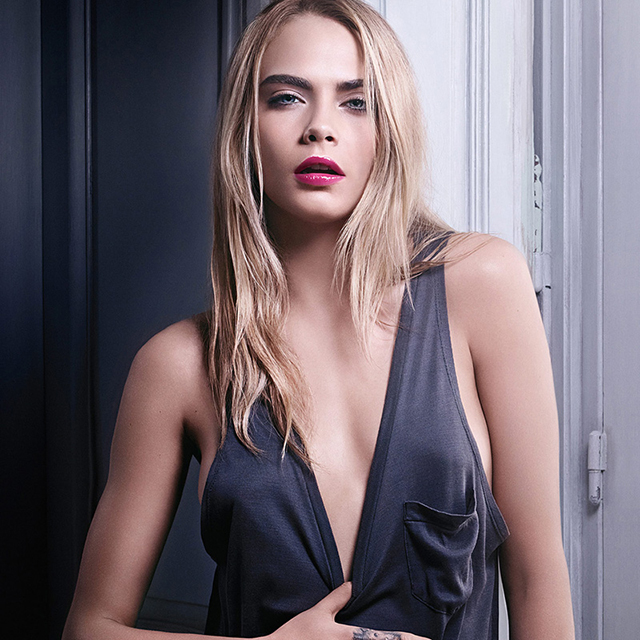 Cara Delevingne is the face of YSL's first-ever oil-based lip tint
