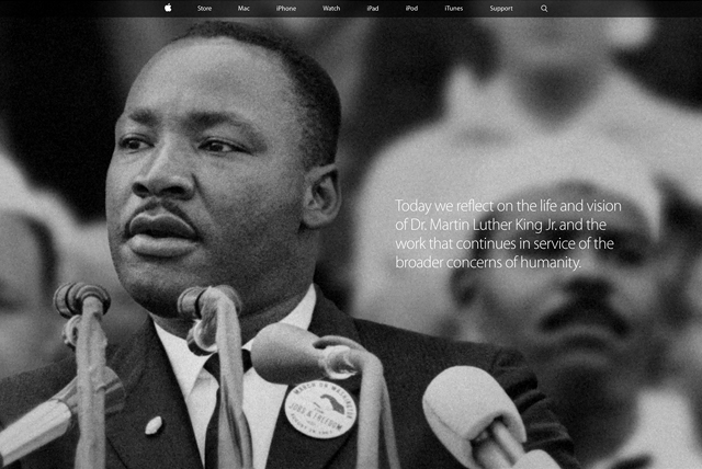 Apple pay tribute to Martin Luther King Jr