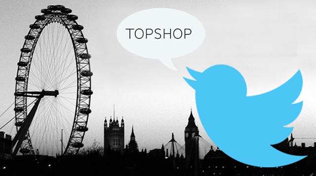 Topshop's London Fashion Week tweets to dominate the city's billboards