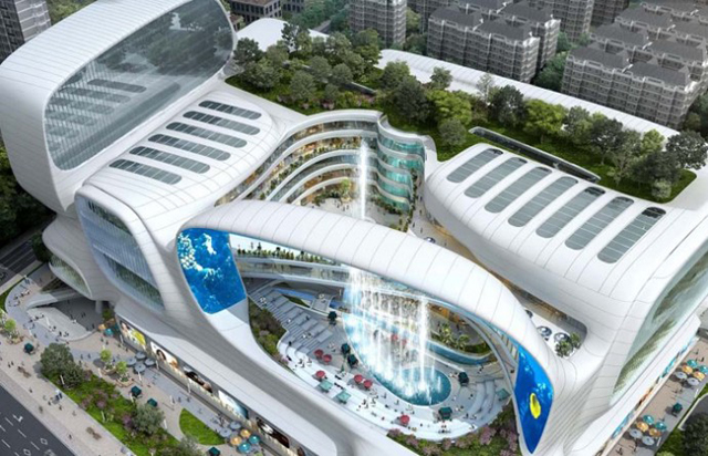 Take a look at China's new aqua themed shopping mall