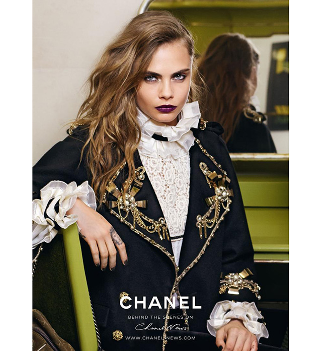Cara Delevingne looks sultry for new Chanel campaign ad