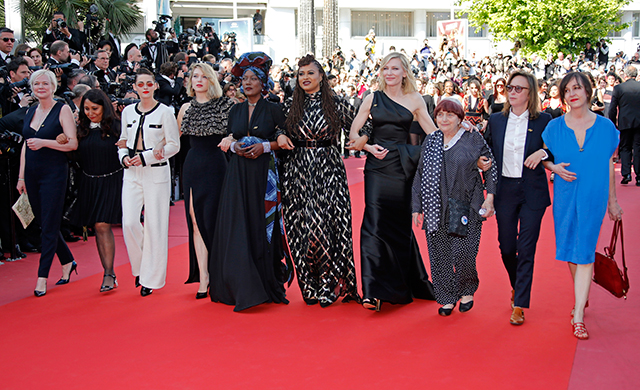 Cate Blanchett leads #MeToo march at Cannes Film Festival