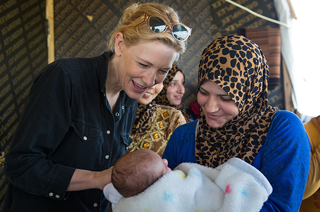 """There is a solution"" — Cate Blanchett, UN Goodwill Ambassador"