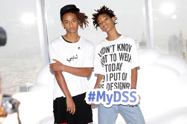 Stars in the sky: Jaden and Willow Smith land in Dubai