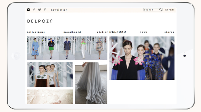 Delpozo unveils revamped website and debuts online store