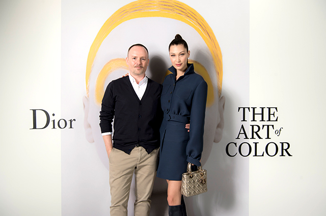 Bella Hadid and Peter Philips launch Dior, The Art of Colour exhibition in Dubai